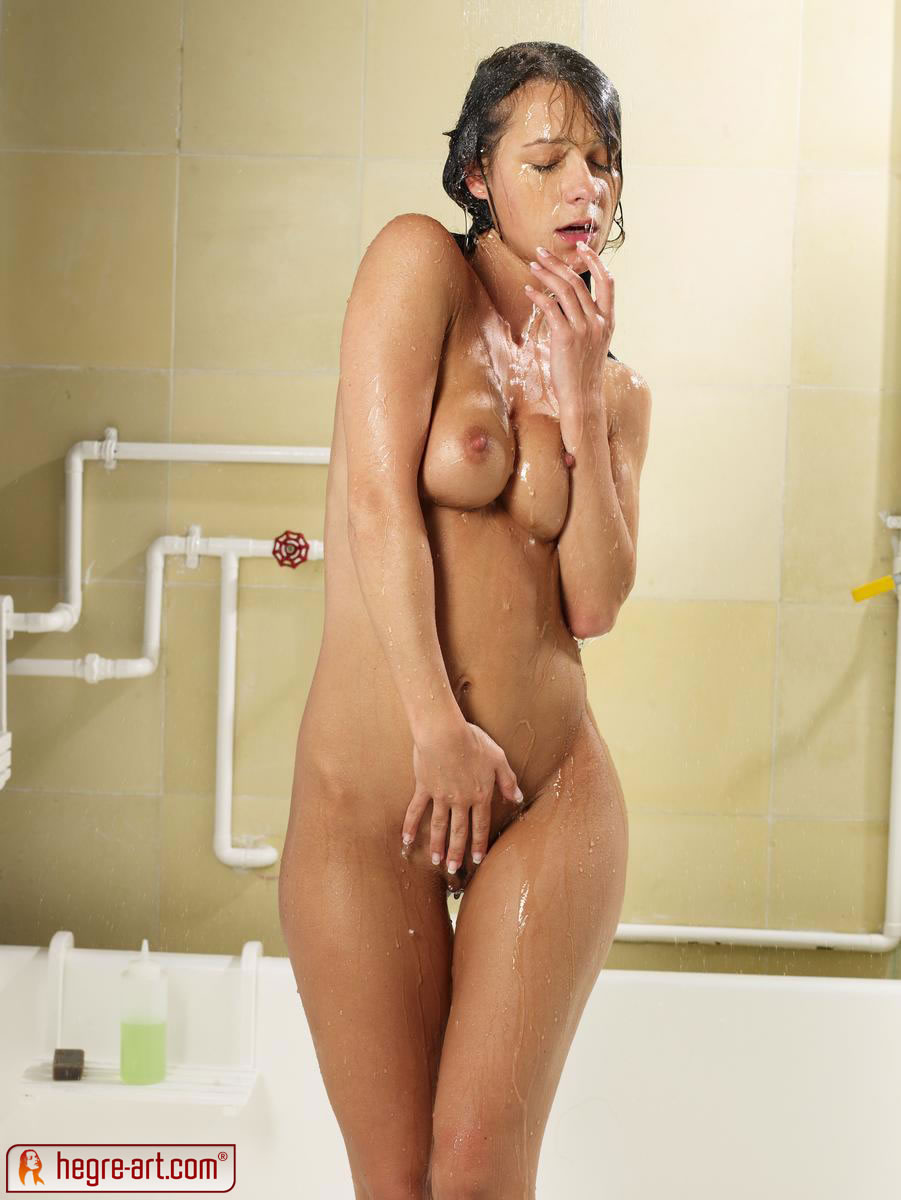 Chicks in shower naked with