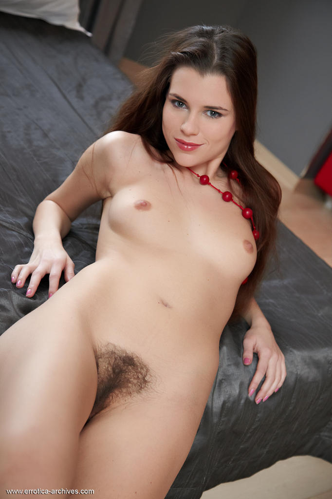 Something Naked in bed brunette hairy pussy