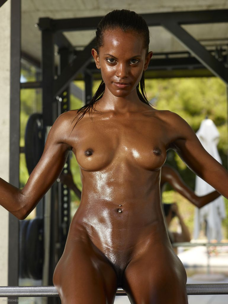 black fit naked girls