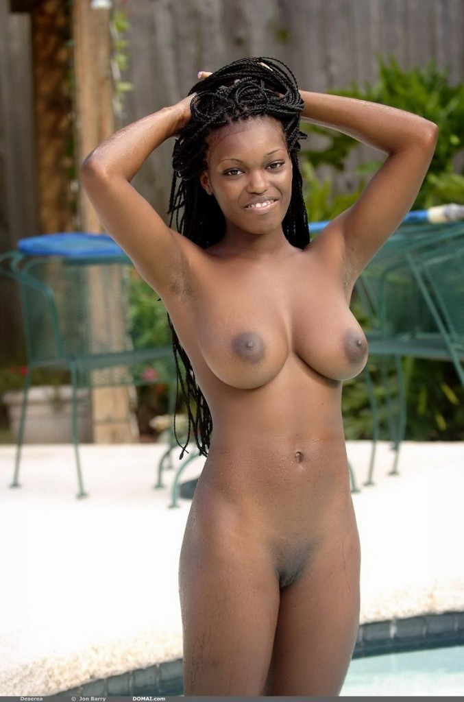 Deserea Nude In Busty Naked Ebony Babe In The Pool Free